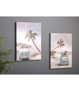 Pareja de cuadros playa Hawai