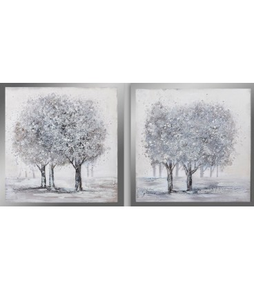 Cuadro plata Zeus árboles