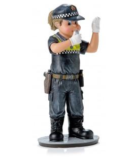 Policia local mujer figura Dirigiendo el tráfico
