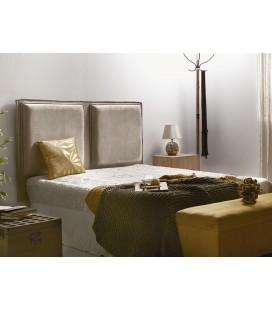 Cabecero de cama capitone beige Monu