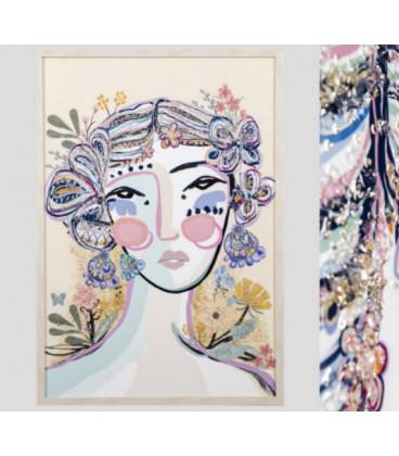 Cuadro mujer abstracto