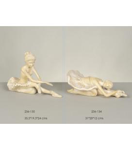 Figura decoración bailarina blanca