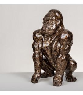 Figura de diseño gorila dorado y marrón