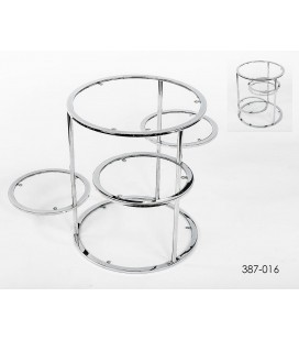 Mesa auxiliar metal y cristal