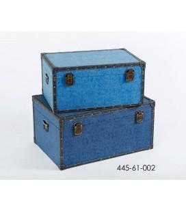 Set 2 baúles azules
