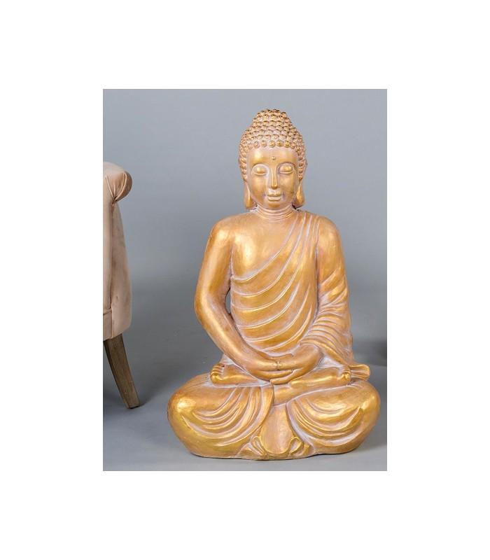 Original figura de buda gigante en dorado para la decoraci n de casa - Figuras buda decoracion ...