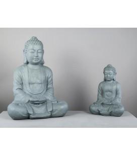 Figura original de Buda gris grande