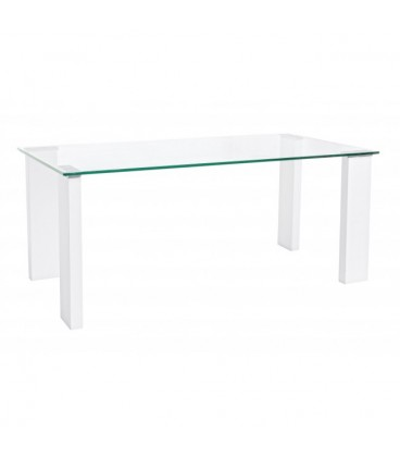 Una mesa de cristal ideal para el sal n o cocina por sus for Salon comedor lacado blanco