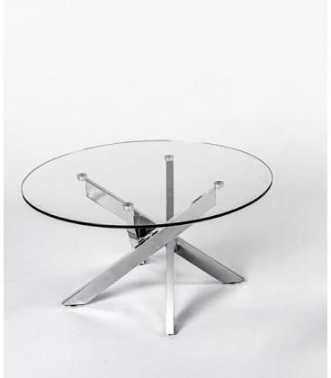 Mesa de centro redonda de cristal y metal para el saln de casa mesa de centro redonda metal y cristal enzo thecheapjerseys Image collections