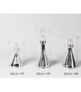 Pôrtavelas de cristal y plata