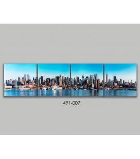 Cuadro cristal paisaje Nueva York