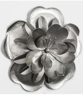 Cuadro metal flor de loto plata