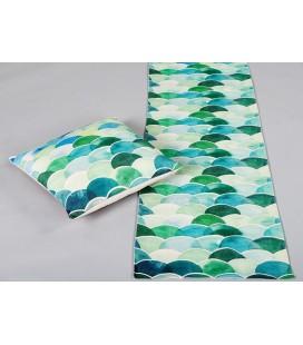 Camino de mesa summer azul y verde