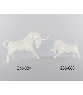Figuras decorativas toros blancos