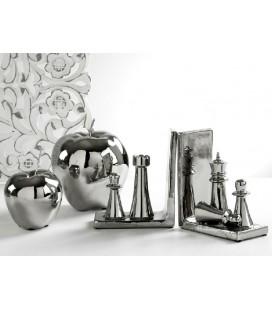 Figura decoración manzana plata