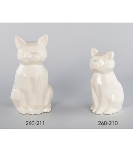 Hucha cerámica gato blanco
