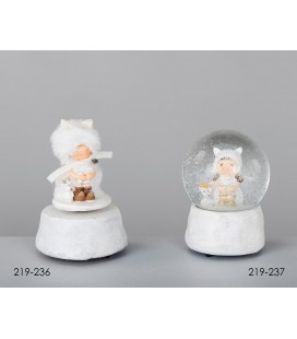 Bola de nieve o caja musical ángeles
