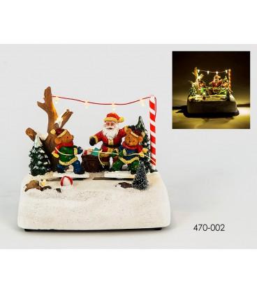 Osos y Santa Claus con luz y movimiento