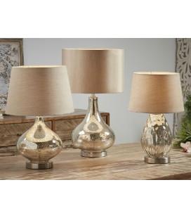 Lámparas de mesa Trébol dorada y beige