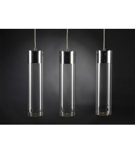 Lámpara de techo tubo cristal x3