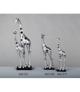 Figuras decoración jirafas plata