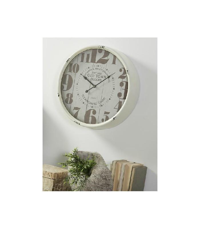 Relojes Muy Grandes Blanco Números Color Con Unos Bronce O Y De Pared WE9I2DH