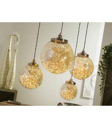 Lámparas de techo Leds dorada