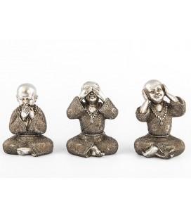 SET 3 MONJES BUDISTAS
