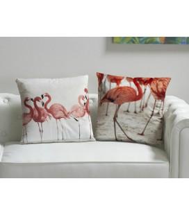 Cojines flamencos rosas