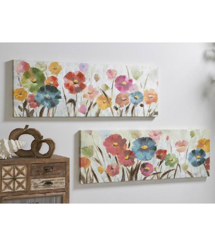 Cuadros con flores con mucho color para la decoraci n de for Decoracion con muchos cuadros