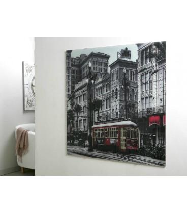 Cuadro bus Londres rojo