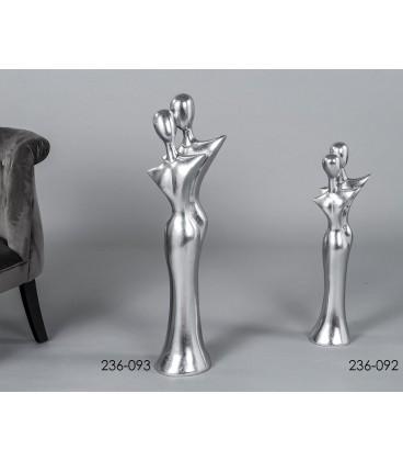 Figuras pareja plata