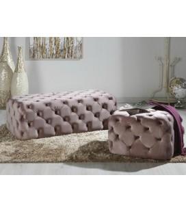 Puf terciopelo rosa