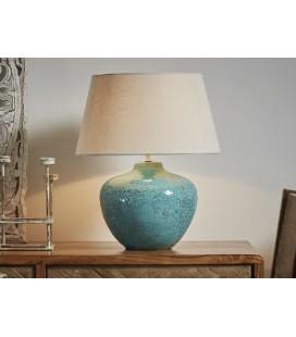 Lámparas de mesa azul Flora grande