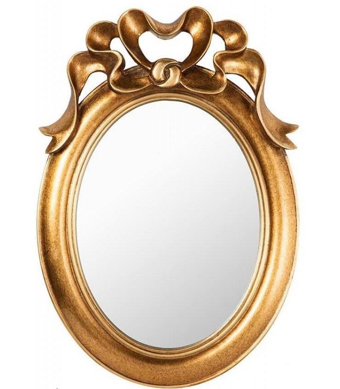 Espejo color oro con lazo ideal para dar amplitud a las for Espejo dorado grande