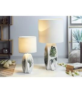 Lámpara de mesa SELVA blanca y verde