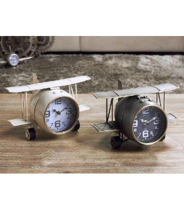 Reloj de sobremesa avión biplano