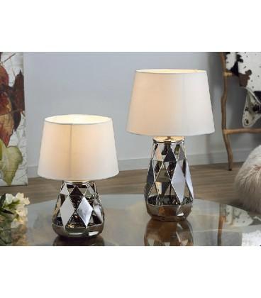 Lámpara de mesa Opium plata