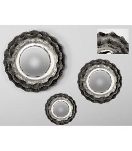 Espejo de pared flor Leo plata
