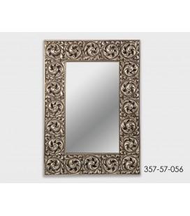 Espejo de resina Barroco plateado