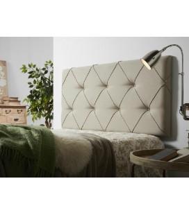 Cabecero de cama capitone beige Uterque