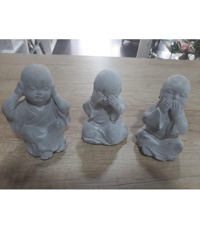 Set De Tres ángeles O Buda De Cemento Ver Oír O Callar