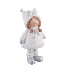 Figura niña navidad búhos Snow