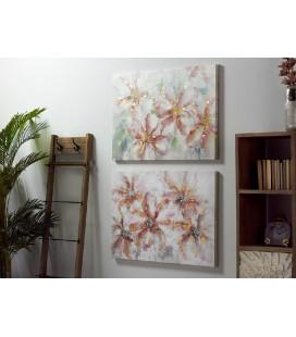 Cuadro abstracto flores Teckel