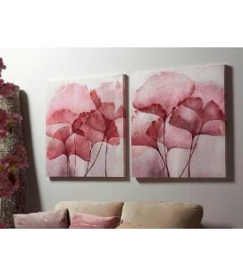 Cuadro flores rosas Lis