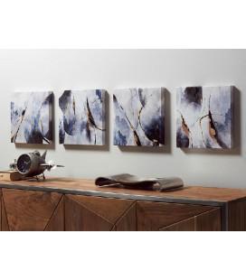Cuadros Claki conjunto de 4 abstracto
