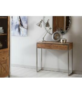 Consola acero y madera Dalí