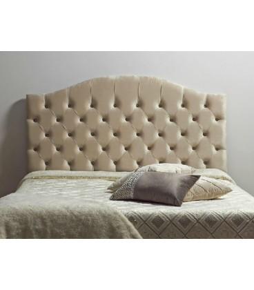 Cabecero de cama capitone beige Leo