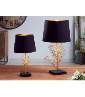 Lámpara de mesa átomos negra y dorado