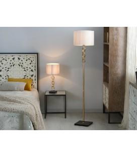 Lámpara de mesa cristal Nagore dorada